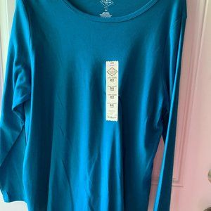 Cute Long Sleeve Women's Pullover Top Size 0X
